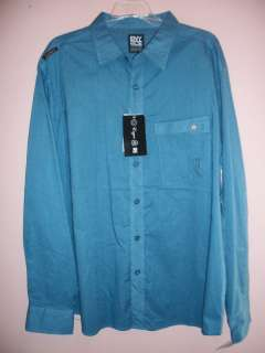 ENYCE YOUNG MENS XL LONG SLEEVE SHIRT BLUE NWT