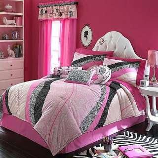 Black and white tiger bedding on popscreen - Black white pink comforter ...