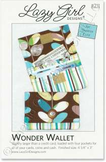 Lazy Girl Designs Wonder Wallet Credit Card Coin Purse Sewing Pattern