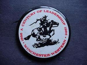 1866   1966 Winchester Western Large Pinback Button