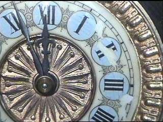 ANTIQUE ANSONIA MANTLE CLOCK ORNATE CAST IRON RESTORABLE PARTS