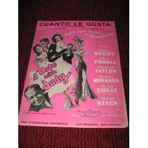 LA PARRANDA), SHEET MUSIC for A Date with Judy, starring Wallace Beery