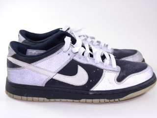 Used Nike Dunk Low 3M Reflective/Navy Blue Men Boy 7y