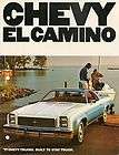 1977 Chevy El Camino Car Pickup Truck Auto Dealer Sales