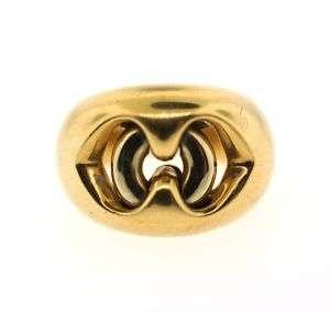STYLISH Bulgari 18k Yellow & White Gold Puzzle Ring