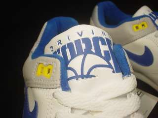 VINTAGE Nike Air 1 Driving Force Low WHITE ROYAL BLUE YELLOW 8