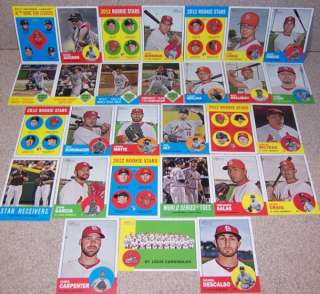 2012 Topps Heritage team set St Louis Cardinals (29)