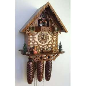 Schneider Animated Kissing Couple Cuckoo Clock, Model #MT