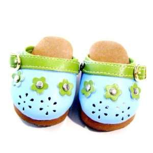 American Girl Doll Clothes Blue Flower Clogs Toys & Games