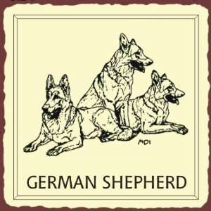 German Shepherd Dog Vintage Metal Animal Retro Tin Sign