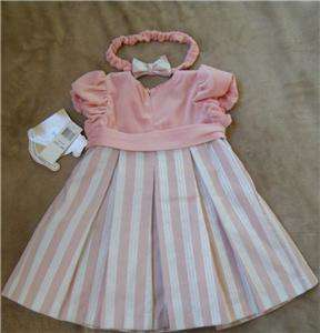 GIRLS DRESS 24 M 24 MONTH VELVET BOUTIQUE VALENTINES DAY PINK 2T NEW W