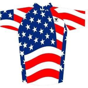 Sportswear usajerseyXXXL USA Flag Bike Jersey