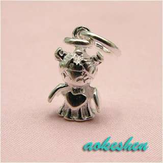 5pcs 925 STERLING SILVER CHARM PENDANTS JEWELRY ASSORTED BEADS FIT