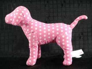 Victoria Secret Pink White Polkadot Dog Plush Animal