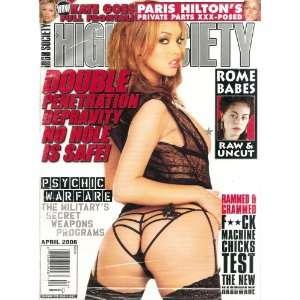 Society Magazine April 2006 Paris Hilton Exposed: High Society: Books