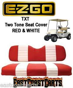 EZGO TXT 1994 Newer Two Tone RED & WHITE Seat Cover Sets