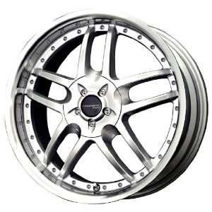 Liquid Metal Core Series Silver Machined Wheel (17x7.5