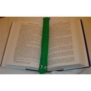 Green Bark Booksnake: A Handmade Weighted Bookmark    the Perfect Gift