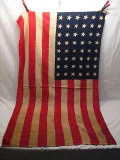 VINTAGE 48 STAR US FLAG WWI ERA AMERICAN USA UNITED STATES C