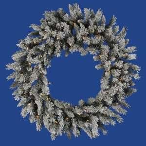 36 Flocked Sugar Pine Christmas Wreath w/ 190T 45 LED