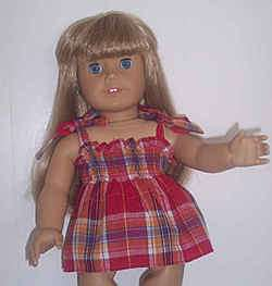 DOLL CLOTHES FITS AMERICAN GIRL RED PLAID TANK TOP