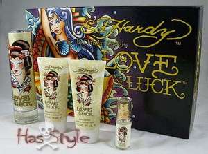 Ed Hardy perfume 4 piece gift set Love & Luck Mermaid