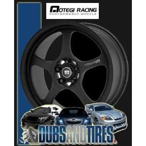 15x7 MOTEGI RACING wheels TRAKLITE1 FLAT Black wheels rims Automotive