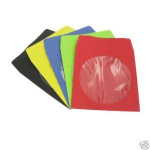 100 Assorted Color CD DVD Paper Sleeve with Window Case