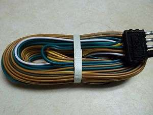 Trailer Wire Harness 25 4  Way Trailer flat Plug Camper boat Utility