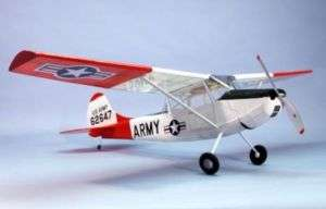 DUM1804 L19 Bird Dog Wooden Airplane Kit 40 Wingspan D