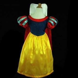 5188UFR3 Easter Snow White Princess Girls Dress Sz 3 4Y