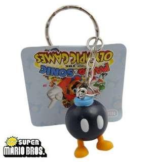 12x Super Mario Figure Key Ring Chain Set