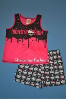 MONSTER HIGH Pajamas Nightgown Size 6 6X 7 8 10 12 14 16 Shirt Shorts