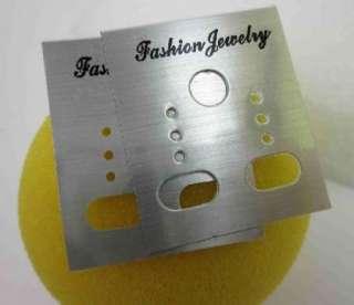 100x Jewelry Earring Hanging Display Grey Card 30x40mm