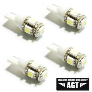 AGT Brand 194 168 5 SMD White High Power LED Car Lights Bulb (Pack of