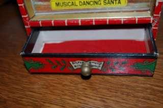 VINTAGE MUSICAL DANCING SANTA JINGLE BELLS MUSIC BOX