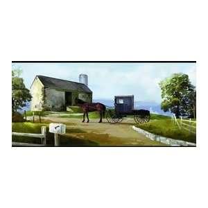 Amish Country Scene Wallpaper Border: Home Improvement