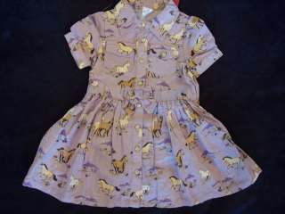 NWT Girls Gymboree Cowgirl Heart horse dress 6 12 month