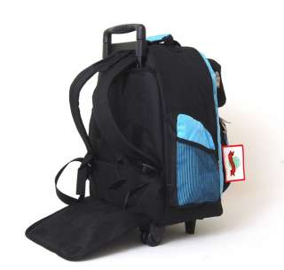 18 Wheeled Backpack Roomy Rolling Book Bag Drop Handle Carry on