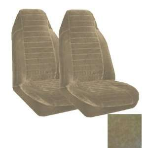 Universal Fit High Back Encore Pattern Front Bucket Seat Cover   Sand