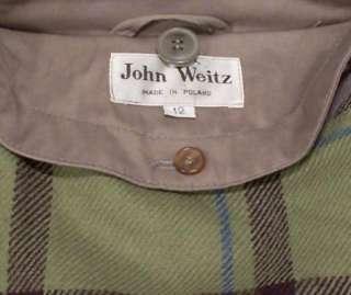 JOHN WEITZ Womens Long Trench Coat size 12