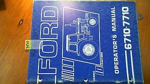 Ford New Holland Series 10 (6710 7710) Tractor Owners Operators