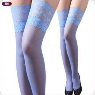 top Lace dark blue Thigh High Stockings tights 6729