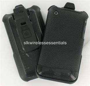 Original OEM AGF iPhone 3G 3GS Genuine Black Leather Hard Case Cover