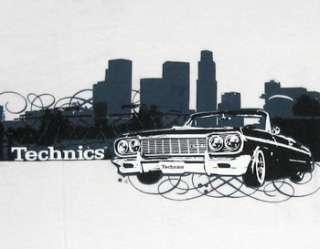 Technics Impala Lowrider Los Angeles Skyline T Shirt S