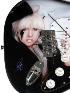 Lady Gaga Autographed Signed Custom Airbrush Guitar UACC RD COA