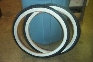 LOWRIDER BIKE TIRES & TUBE WHITE WALL 20 X 1.75 BICYCLE