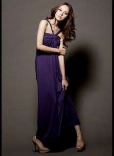 Cocktail Skinny Halter Padded Strapless Pleated Long Dress 3 color