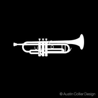 Trumpet   White Vinyl Decal