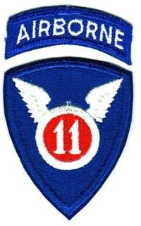 11th AIRBORNE DIVISION   U.S. ARMY PATCH